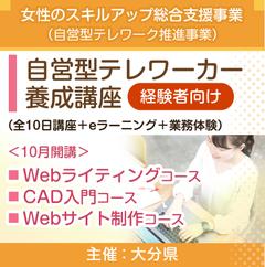 自営型テレワーカー養成講座<経験者向け>(大分県)