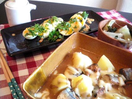 【Mon】鯖煮とじゃがの生姜煮定食