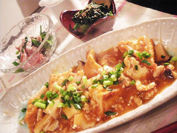 【Tue】厚揚げのチリソース炒め定食