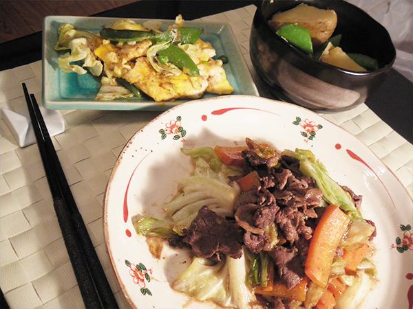 【Thu】牛肉とキャベツのオイスターソース炒め定食
