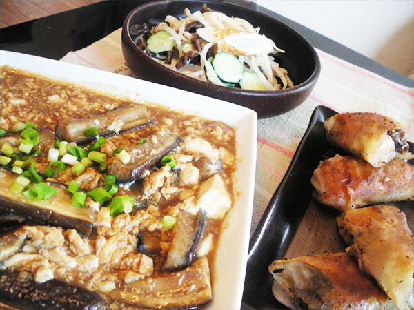 【Thu】茄子とくずし豆腐の味噌炒め定食