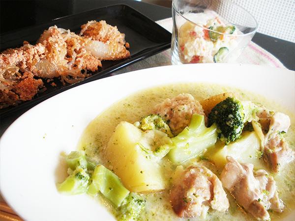 【Wed】ブロッコリのクリームチーズシチュー定食