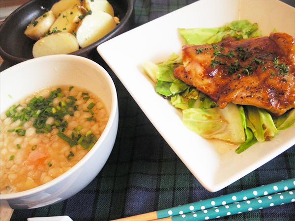 【Mon】チリソースチキン定食