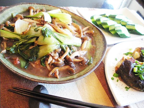 【Wed】いかげそとチンゲン菜の梅あん炒め定食
