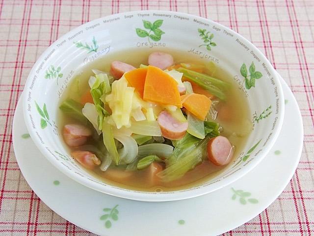 ざく切り野菜スープ