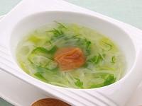 ねぎと梅干しのとろとろスープ