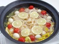 スライス大根のレモン鍋