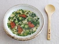 たっぷり夏野菜のねばねば卵スープ