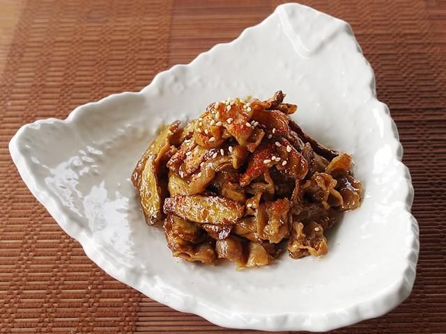 豚肉と揚げごぼうのうま辛煮