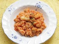 トマトとシーフードの洋風炊き込みご飯
