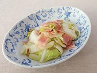 白菜とベーコンの炒め焼き