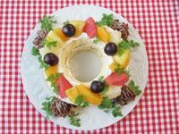 リース風ケーキ