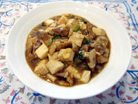 豚バラ肉のマーボー豆腐
