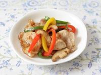 緑黄色野菜と豚肉の甘酢漬け
