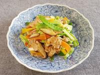 豚肉とカラフル野菜炒め