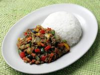 彩り野菜のキーマカレー