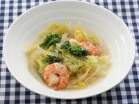 春野菜とえびのスープ