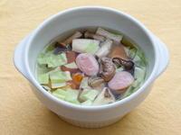 きのこと野菜のレンチンスープ